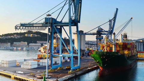 A Ship at Dock