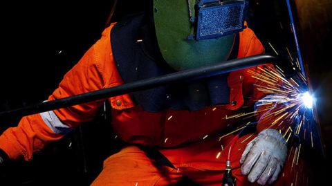 A Maritime Welder at Work
